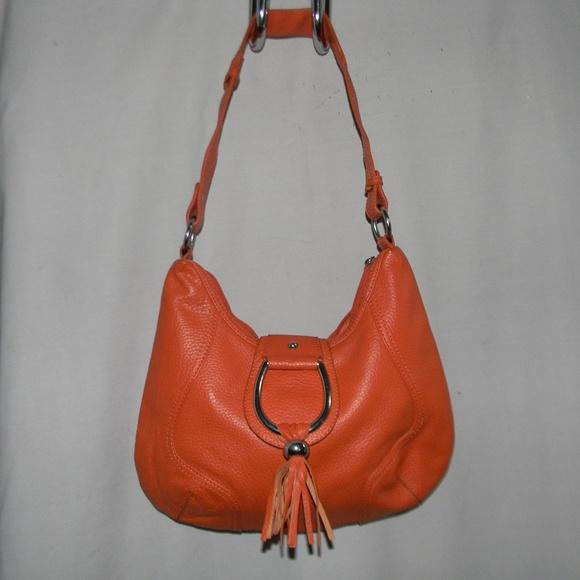 Coldwater Creek Handbags - Orange Pebbled Leather Hobo handbag 9f3c855b04273